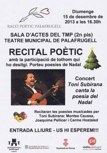 Cartell concert Toni Subirana a Palafrugell
