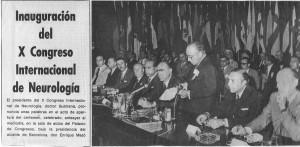 Portada de La Vanguardia en la que aparece el Dr. Antonio Subirana en su discurso inaugural del X Xongreso Internacional de Neurología (Barcelona, 1973).