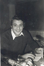 El locutor Mario Gargallo en su juventud