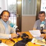 Toni Subirana amb Eduard Cid al programa de la Xarxa Girona Ara